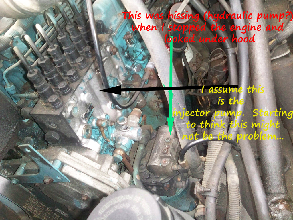 1994 International with Detroit DT466 Engine Stopped – International 4300 Engine Diagram
