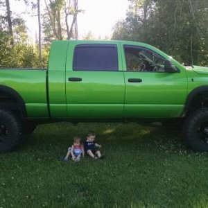 My truck and 2 baby's :)